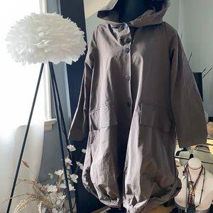Grizas oversized hooded coat/jacket